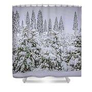 Christmas Tree Farm Shower Curtain