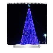 Christmas Tree San Salvador 2 Shower Curtain