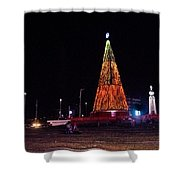 Christmas Tree San Salvador 6 Shower Curtain