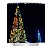 Christmas Tree San Salvador Shower Curtain