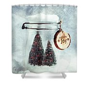 Christmas Tree Snowglobe Shower Curtain
