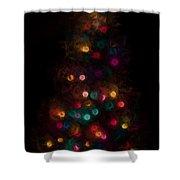 Christmas Tree Splatter Paint Abstract Shower Curtain