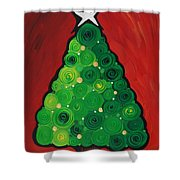 Christmas Tree Twinkle Shower Curtain