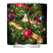 Christmas Tree With Angel 4 Shower Curtain