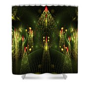 Christmas Trees Pattern Shower Curtain
