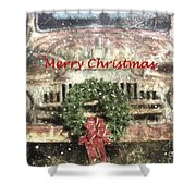 Christmas Truck Shower Curtain