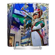 Christmas Trumpeter At The Rock Shower Curtain