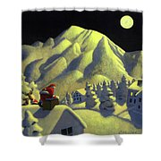 Christmas Under Olympus Shower Curtain
