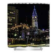 Christmas Village - Philadelphia Shower Curtain