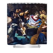 Christmas With The Shepherds Shower Curtain
