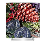 Christmas Wreath 2 Shower Curtain
