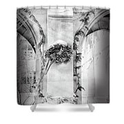 Christmas Wreath In Winter Shower Curtain