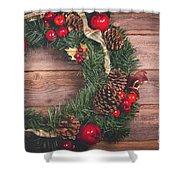 Christmas Wreath  Shower Curtain
