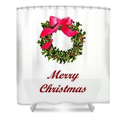 Christmas Wreath Shower Curtain