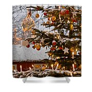 Christmastime At Tivoli Gardens Shower Curtain