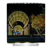 Christopher Columbus Park 3764 Shower Curtain