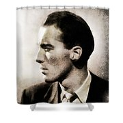 Christopher Lee, Vintage Actor Shower Curtain