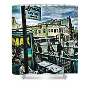 Christopher Street Greenwich Village  Shower Curtain