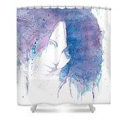 Chromatic Girl Shower Curtain