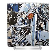 Chrome Harley Shower Curtain