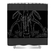 Chrome Machines Shower Curtain