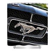 Chrome Stallion - Ford Mustang Shower Curtain