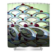 Chrome Sundae Shower Curtain