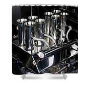 Chromed Fuel Injection Shower Curtain