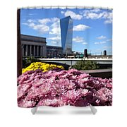 Chrysanthemums And Cirrus  Shower Curtain