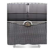 Chrysler 300 Logo And Grill Shower Curtain