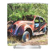 Chrysler Airflow Painterly Expression Shower Curtain