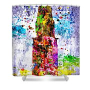 Chrysler Building Colored Grunge Shower Curtain