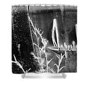 Chrysler Imperial Emblem - Bw Shower Curtain