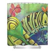 Chubby Little Caterpillars Shower Curtain