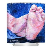 Chubby Toes Shower Curtain