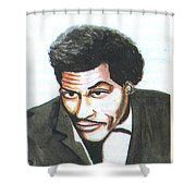 Chuck Berry 45 Shower Curtain