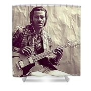 Chuck Berry, Music Legend Shower Curtain