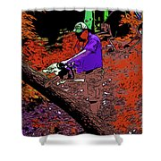 Chuck Chainsaw 2 Shower Curtain