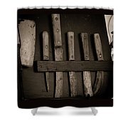 Chuck Wagon Knives Shower Curtain