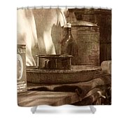 Chuckwagon Sideboard Shower Curtain