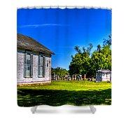 Church And Graveyard Shower Curtain
