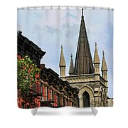 Church Architecture Older Nyc  Shower Curtain