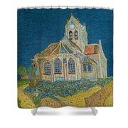 Church At Auvers Shower Curtain