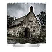 Church At Castle Frankenstein Shower Curtain