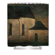 Church At Twilight Shower Curtain