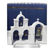 Church Bells And The Sea Shower Curtain