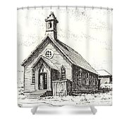 Church Bodie Ghost Town California Shower Curtain