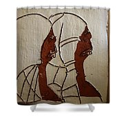 Church Day - Tile Shower Curtain