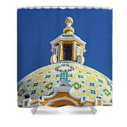 Church Dome And Blue Sky Shower Curtain