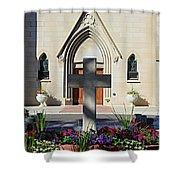 Church Entrance Cross Shower Curtain